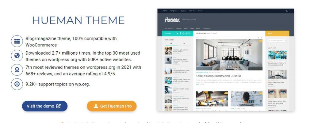 Most popular free WordPress themes — Hueman