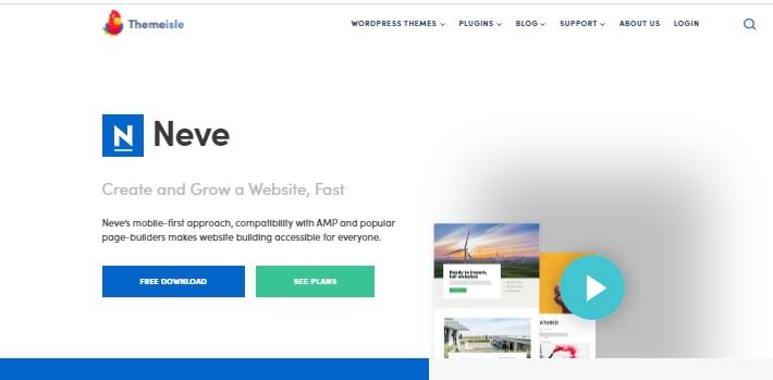 Most popular free WordPress themes — Neve