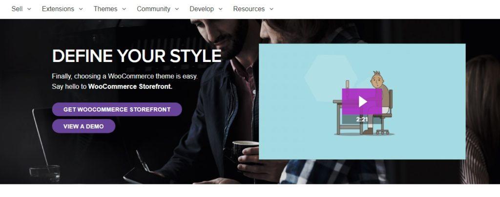 Most popular free WordPress themes — Storefront