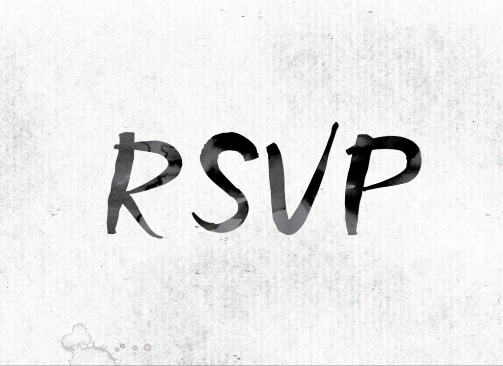 What to include on wedding website — include RSVPs