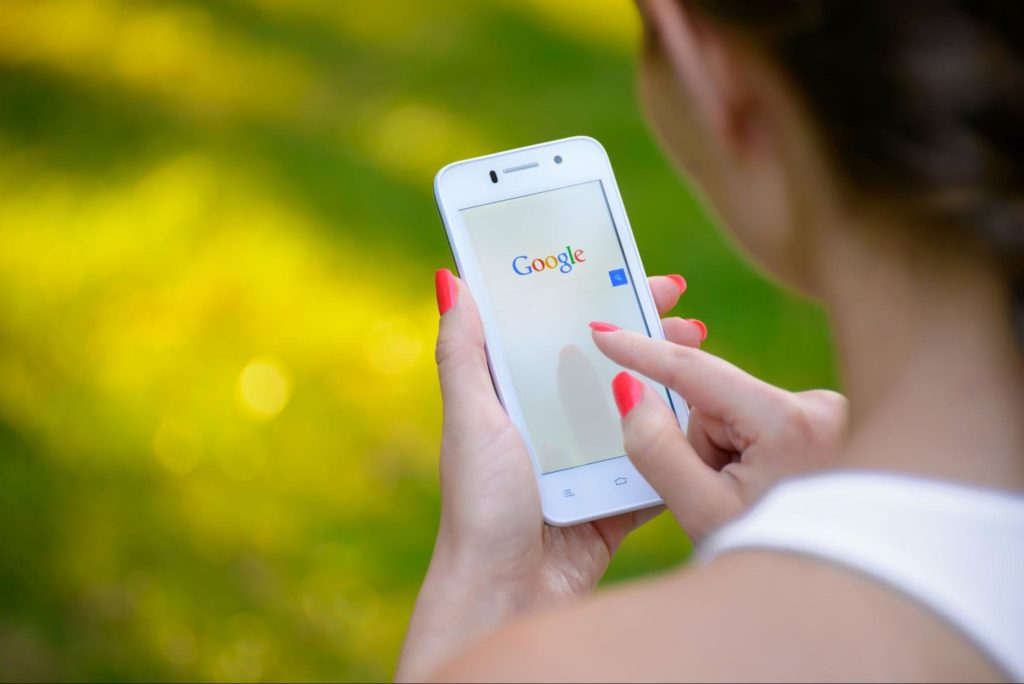 Why Google my business is important — a user searching for your business